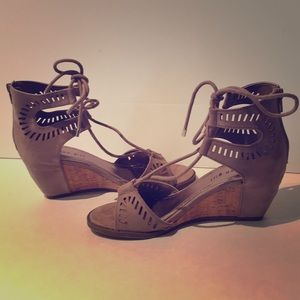 Madden Girl suede tan sandals